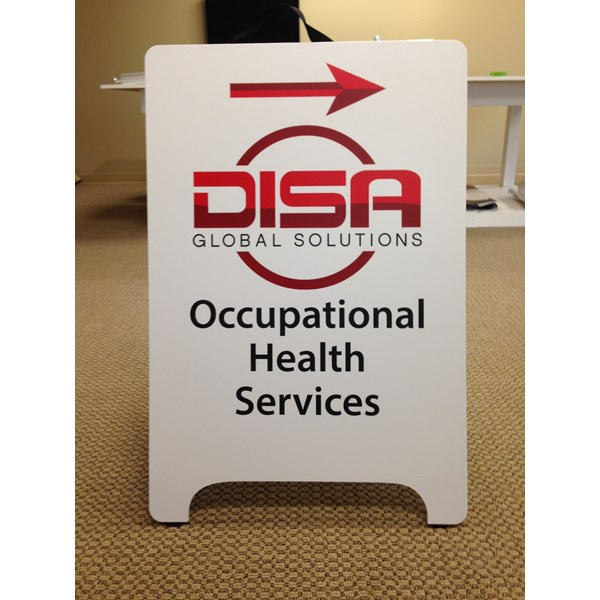 - Rigid Signage - A-Board - DISA, Inc. - Anacortes, WA